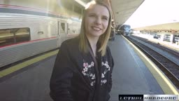 CATARINA GETS HER TEEN RUSSIAN PUSSY PLOWED ON A SPEEDING TRAIN