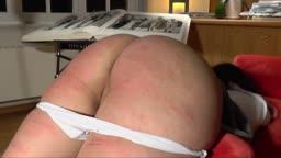 schoolgirl vigourously caned