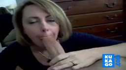 Blonde do a great blowjob on BWC