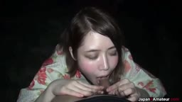 【素人露出】フェラ Amateur Japanese Girl Sucking Dick Outdoors
