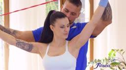 Billie Star - Trainer stretches brunette beauty